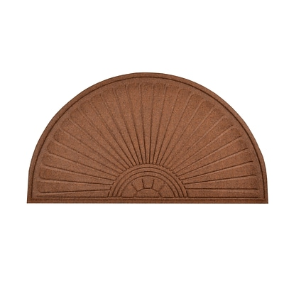 HomeTrax Designs 169F0036BR 36 x 70 Guzzler Sunburst Door Mat, Brown
