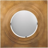 Surya MRR1003-3030 30 x 30 Frame made from MDF Mirror, brilliant gold