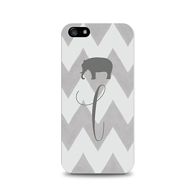 Centon OTM™ Critter Collection Gray Zig/Zag Case For iPhone 5, Elephant - L