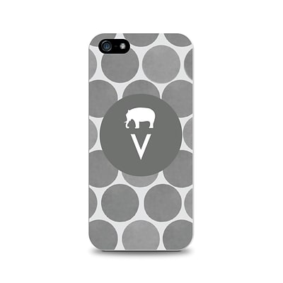 Centon OTM™ Critter Collection Gray Dots Case For iPhone 5, Elephant - V