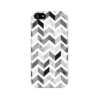 OTM iPhone 5 White Glossy Case, Ziggy Collection, Grey
