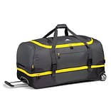 High Sierra Nylon & Polyester Drop Bottom Wheeled Duffel 34 x 17.5; Mercury Sunflower