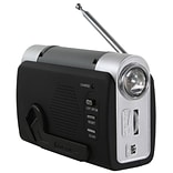 Sportsman™ Series Hand Crank Emergency Radio, Gray