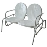 Buffalo Tools AmeriHome Double Seat Glider Chair, White