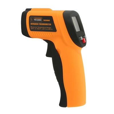 Pro Series Non-Contact Infrared Thermometer, Fahrenheit/Celsius