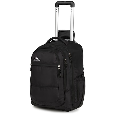 High Sierra Waffle & Duralite Rev Wheeled Backpack, 21 x 14, Black
