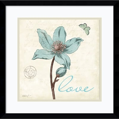 Amanti Art Touch of Blue IV Love Framed Art Print by Katie Pertiet, 17.13H x 17.13W