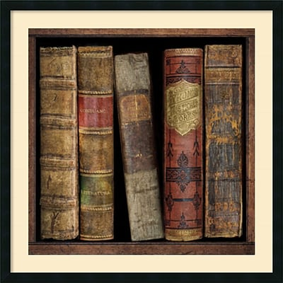Amanti Art In The Library I Framed Art Print by Russell Brennan, 34H x 34W