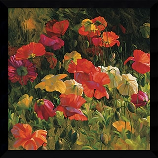 Iceland Poppies 32 x 32 inch