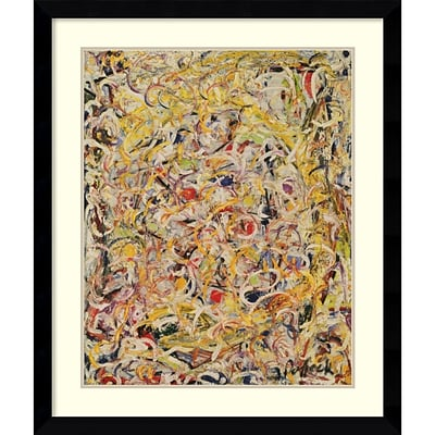Amanti Art Shimmering Substance, 1946 Framed Art Print by Jackson Pollock, 38.63H x 32.63W