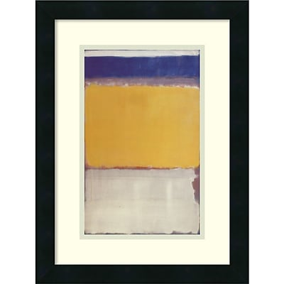Amanti Art Number 10, 1950 Framed Art Print by Mark Rothko, 18H x 13.63W