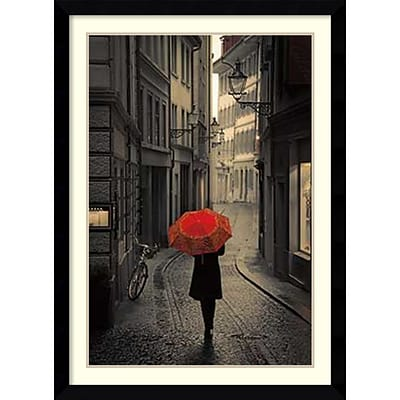 Amanti Art Red Rain Framed Art Print by Stefano Corso, 42.63H x 31.13W