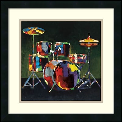 Amanti Art Drum Set Framed Art Print by Elli/John Milan, 18H x 18W