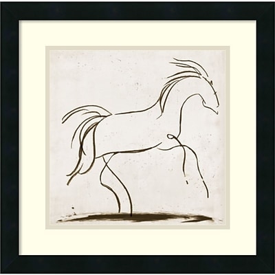 Amanti Art Horse II Framed Art Print by Tom Reeves, 18H x 18W