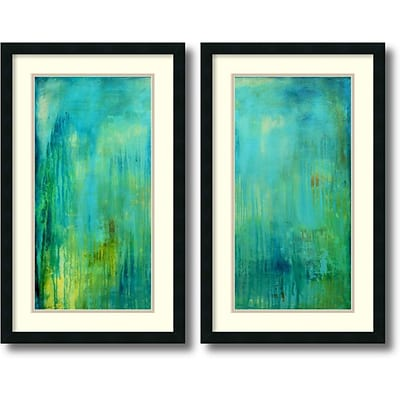 Amanti Art Blue Mountain Rain - Set of 2 Framed Art Print by Erin Ashley, 31H x 19W