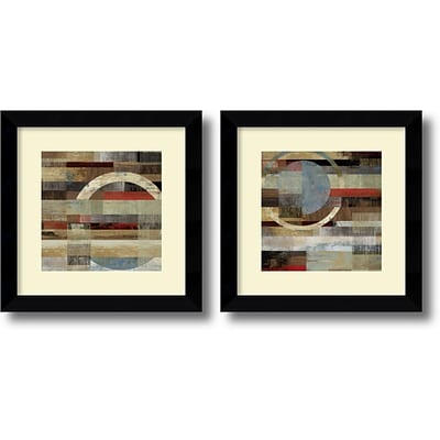 Amanti Art Industrial - Set of 2 Framed Art Print by Tom Reeves, 19.63H x 19.63W
