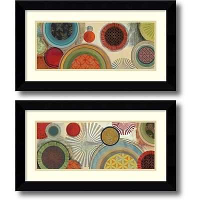 Amanti Art Commotion - Set of 2 Framed Art Print by Tom Reeves, 14.63H x 26.63W