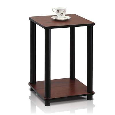 Furinno® 20 x 13.4 Rubber & Polyvinyl Chloride End Table Dark Cherry & Black