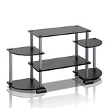 Furinno® BLK & Grey TV Entertainment Center