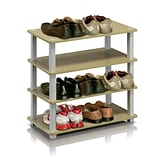 Furinno® Steam Beech & White Shoe Rack