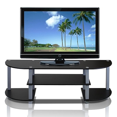 Furinno® 15.9 x 47.2 Rubber & Polyvinyl Chloride Wide TV Center; Black & Grey