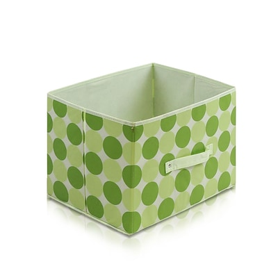 Furinno® 10.5H x 15 Non Woven Polypropylene & Paperboard Storage Container; Green