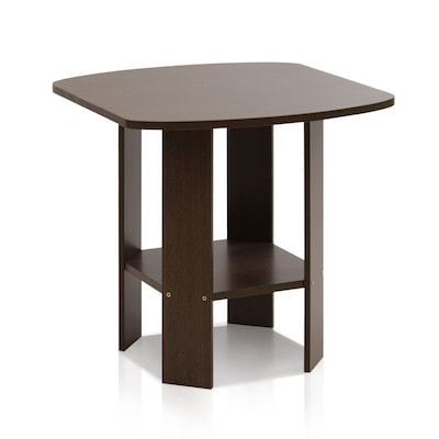 "Furinno® 19.6"" x 20"" Wood Simple Design End/Side Table"