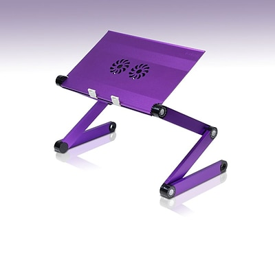 Furinno® Aluminium Adjustable Portable Laptop Table; Purple