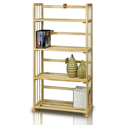 Furinno® 46.9 x 23.8 Pine Solid Wood Bookshelf
