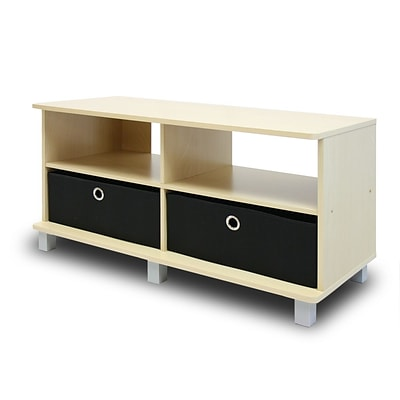 Furinno® 33.25 x 37.8 Wood Entertainment Center with 2 Bin Drawer