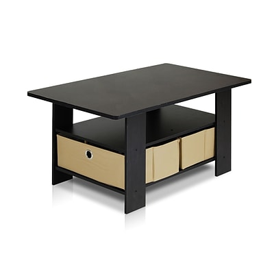 Furinno® 15.6 x 31.5 Composite Wood Coffee Table; Espresso & Light Brown