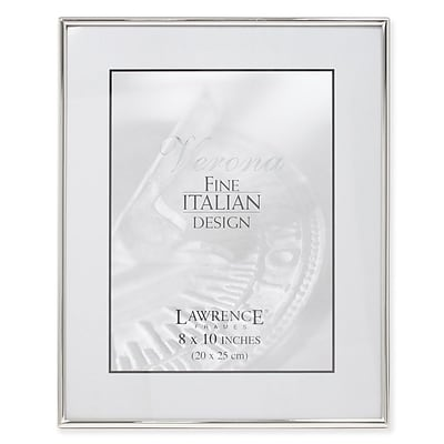 Lawrence 650080 Silver Metal 8 x 10 Picture Frame