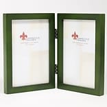 LF 756046D Green Wood 3.1x4.1 Picture Frame