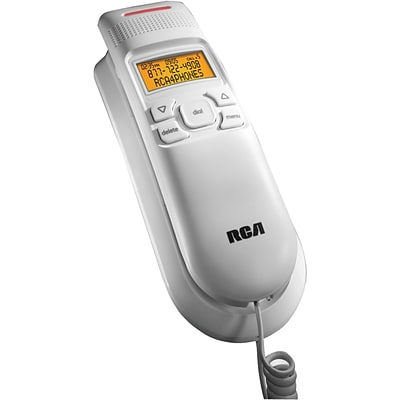 RCA 1122-1 Legend Series Amplified Slim-Line Phone With Caller ID, 13 Name/Number, White