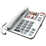 RCA White Amplified Big Button Deskphone