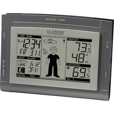 La Crosse Technology(r) WS 9611U IT Wireless Weather Station With Sun/Moon & Advanced Forecast Icons