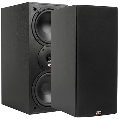 MTX® MONITOR60I 100W RMS 6.5 Two-Way Bookshelf Speakers, Black Ash