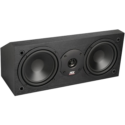 MTX® MONITOR6C 100W RMS Dual 6.5 Two-Way Center Channel Speaker, Black Ash