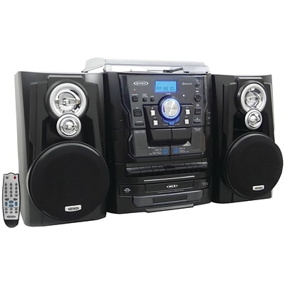 Jensen® JMC-1250 Bluetooth 3-Speed Stereo Turntable Music System