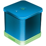 iGlowSound Cube Blue Portable Wired Speaker