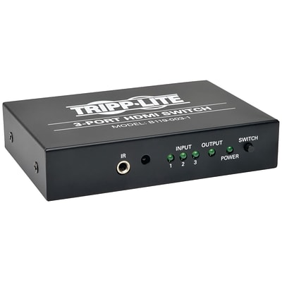 Tripp Lite® B119-003-1 3-Port HDMI Switch For Video and Audio