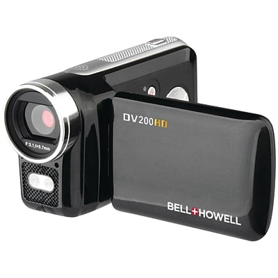 Bell & Howell Dv200HD 5.0 Megapixel High-Definition Digital Video Camcorder, Black