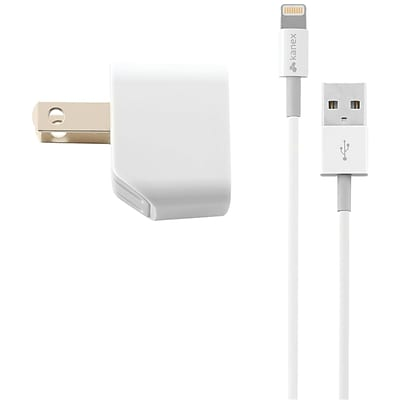Kanex® 4 1 A USB Wall Charger With Lightning™ Cable Kit, White