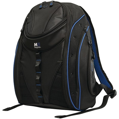 Mobile Edge Express 2.0 16 PC/17 MacBook Backpack, Black/Royal Blue