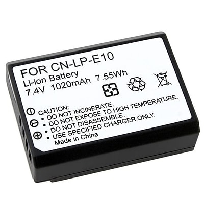 Insten 7.4 V Rechargeable Li-ion Battery For Canon LP-E10, Black