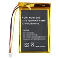 Insten® 325351 High-Capacity/Rechargeable Li-ion Battery For Garmin Nuvi 200; Silver/Yellow