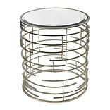 Sterling Industries 582114-929 22 Round Side Table, Sandhurst Silver