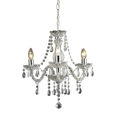 Sterling Industries 582144-0159 18 3 Light Chandelier, Chrome