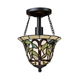 Elk Lighting Latham 58270114-19 11 1 Light Semi Flush Mount, Tiffany Bronze