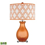 Dimond Lighting Thatcham 582D2511-LED9 26 Table Lamp, Tangerine Orange with Polished Nickel